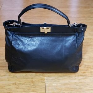 New Italian calfskin leather satchel